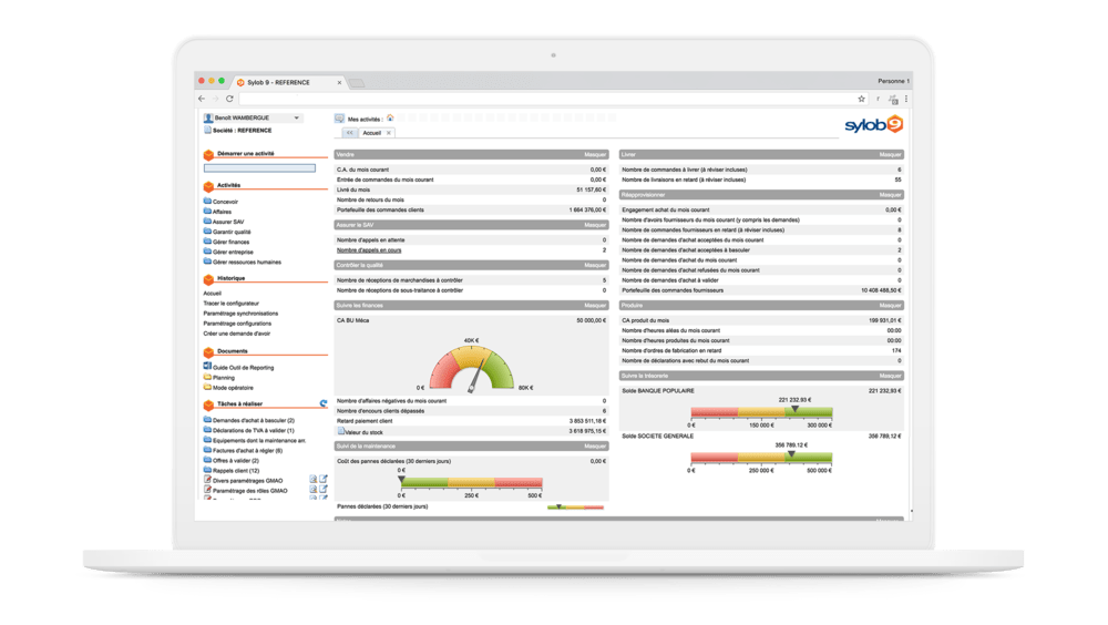Sylob ERP Industry Screen